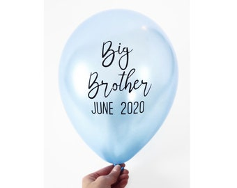 Big Brother Balloon | Personalized balloon | Pregnancy Announcement | Custom 11 inch latex balloon with vinyl decal
