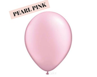Pearl Pink balloons | 11 inch solid latex balloons
