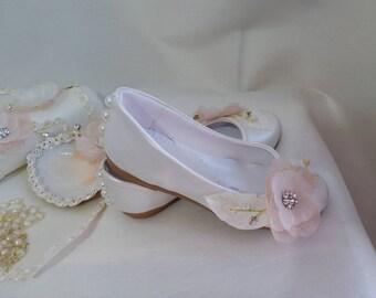 935ec48f4a9cd Ballerines ivoire