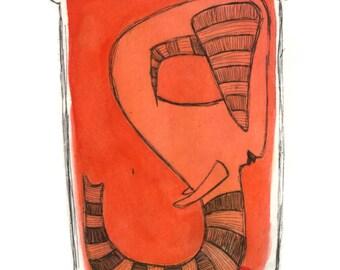 Alphabet print, G, original copper plate etching
