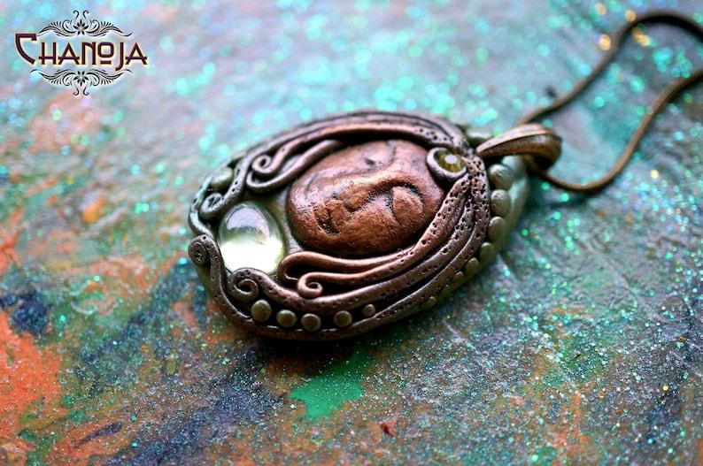Grandmother Goddess Pendant-wise woman crone hag goddess necklace spiritual healing gemstone jewelry unique gift for her underworld goddess