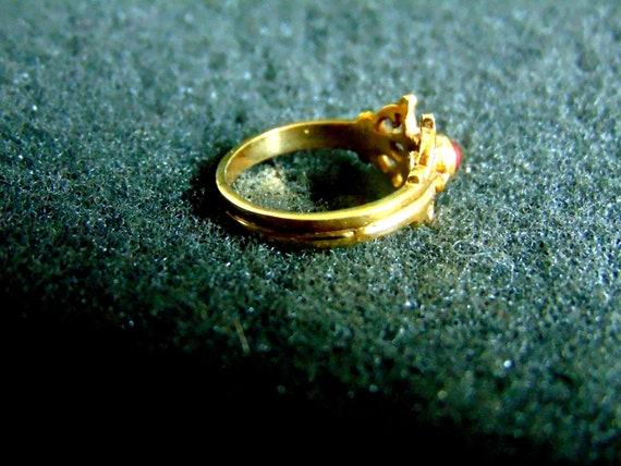 Antique Garnet Ring, Garnet Ring Vintage, Bohemia… - image 4