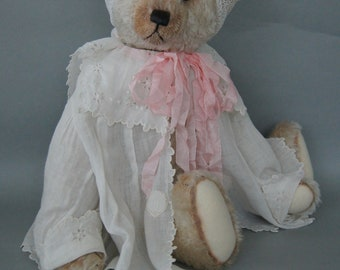 Christy, a 48 cm creme colored long curly mohair teddy bear