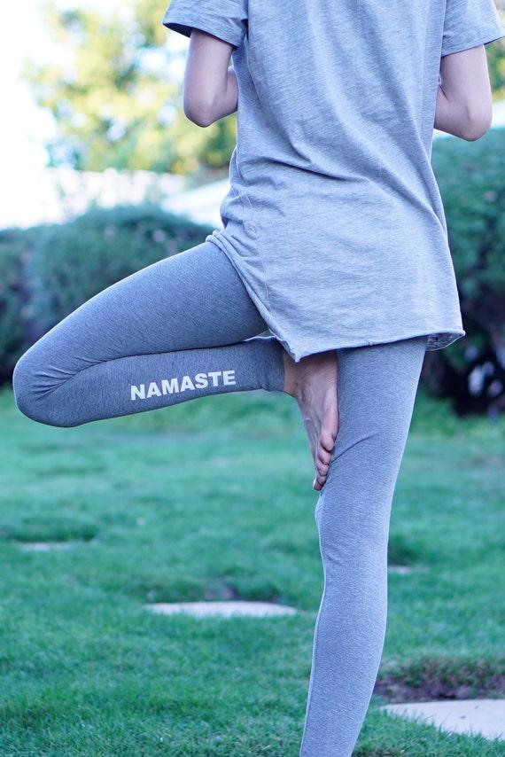 54b334ff95 Yoga Leggings Namaste Leggings Yoga Pants Yoga Yoga   Etsy