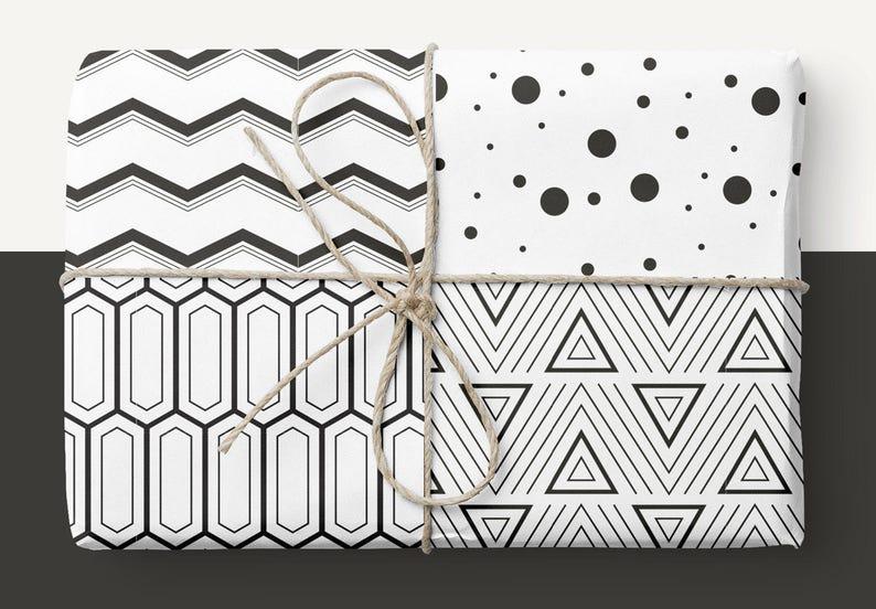 Geometric Background Scrapbook Paper Clipart Patterns Etsy