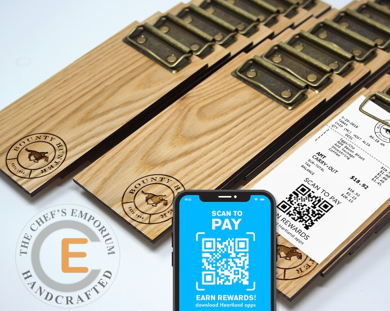 Restaurant Contactless Payment Solutions  Check Presenter  Solid Oak