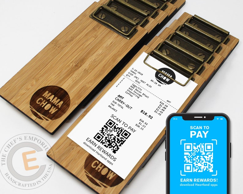 Touchless Check Presenter for Restaurant Payment  Mini BAMBOO image 0