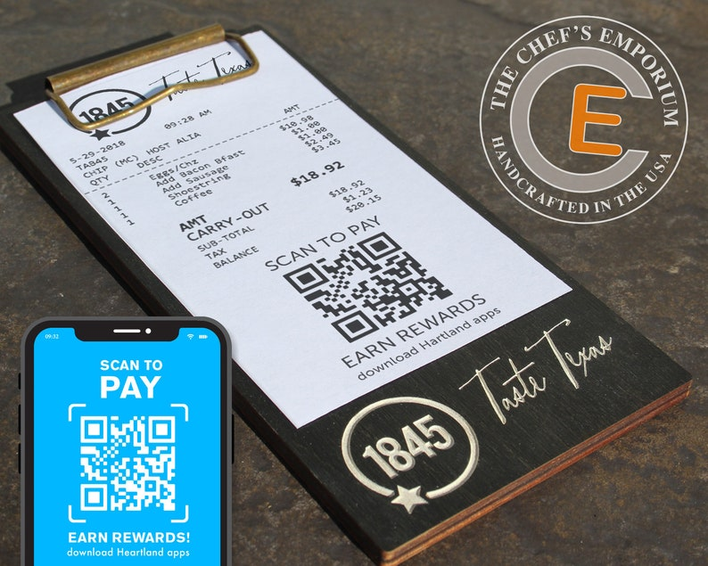 Touchless Check Presenter for Restaurant Payment  Mini BLACK image 0