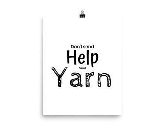 Yarn Quote Art Etsy