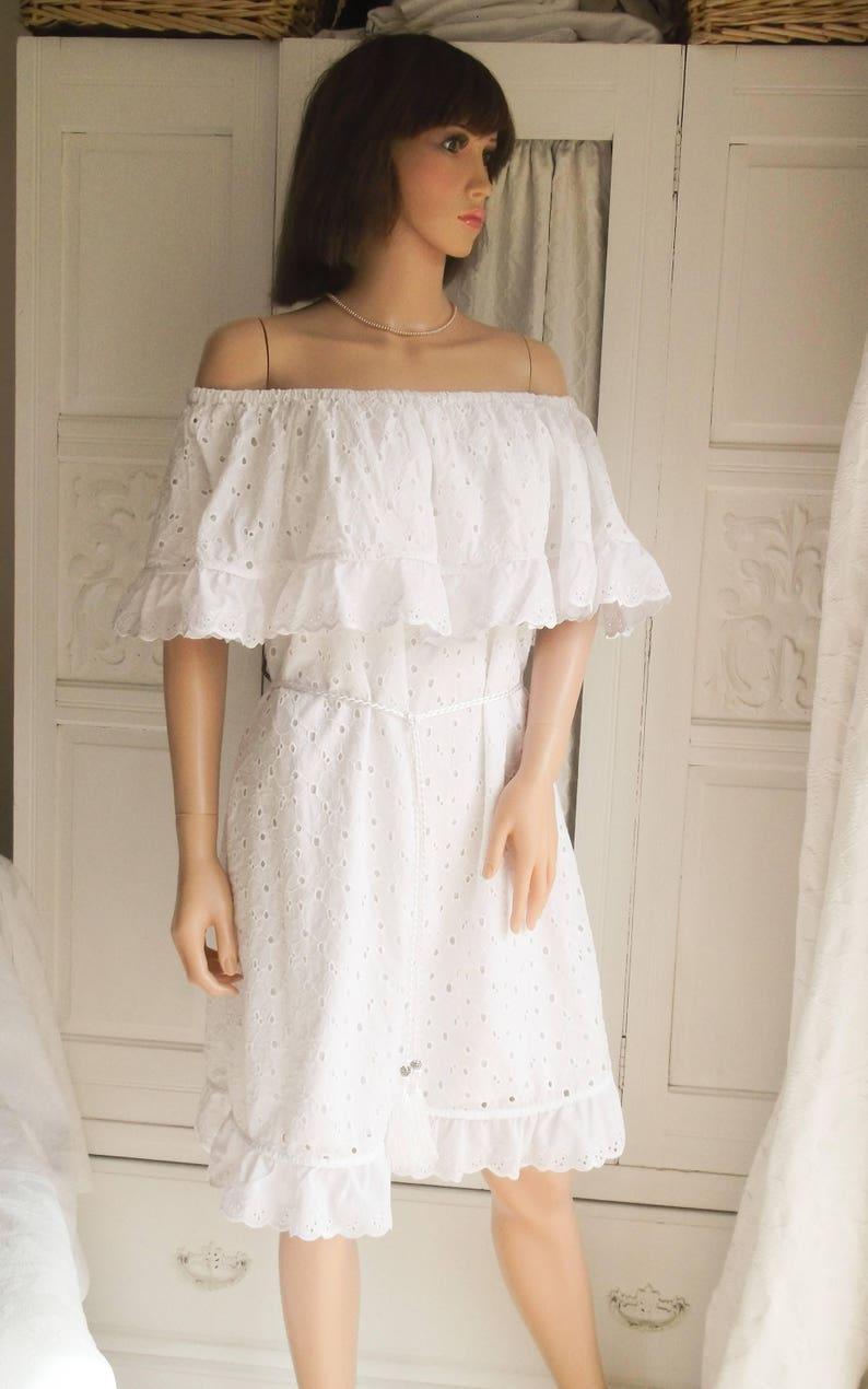 3d84953e16c2 New White cotton lace dress White lace Summer dress White lace