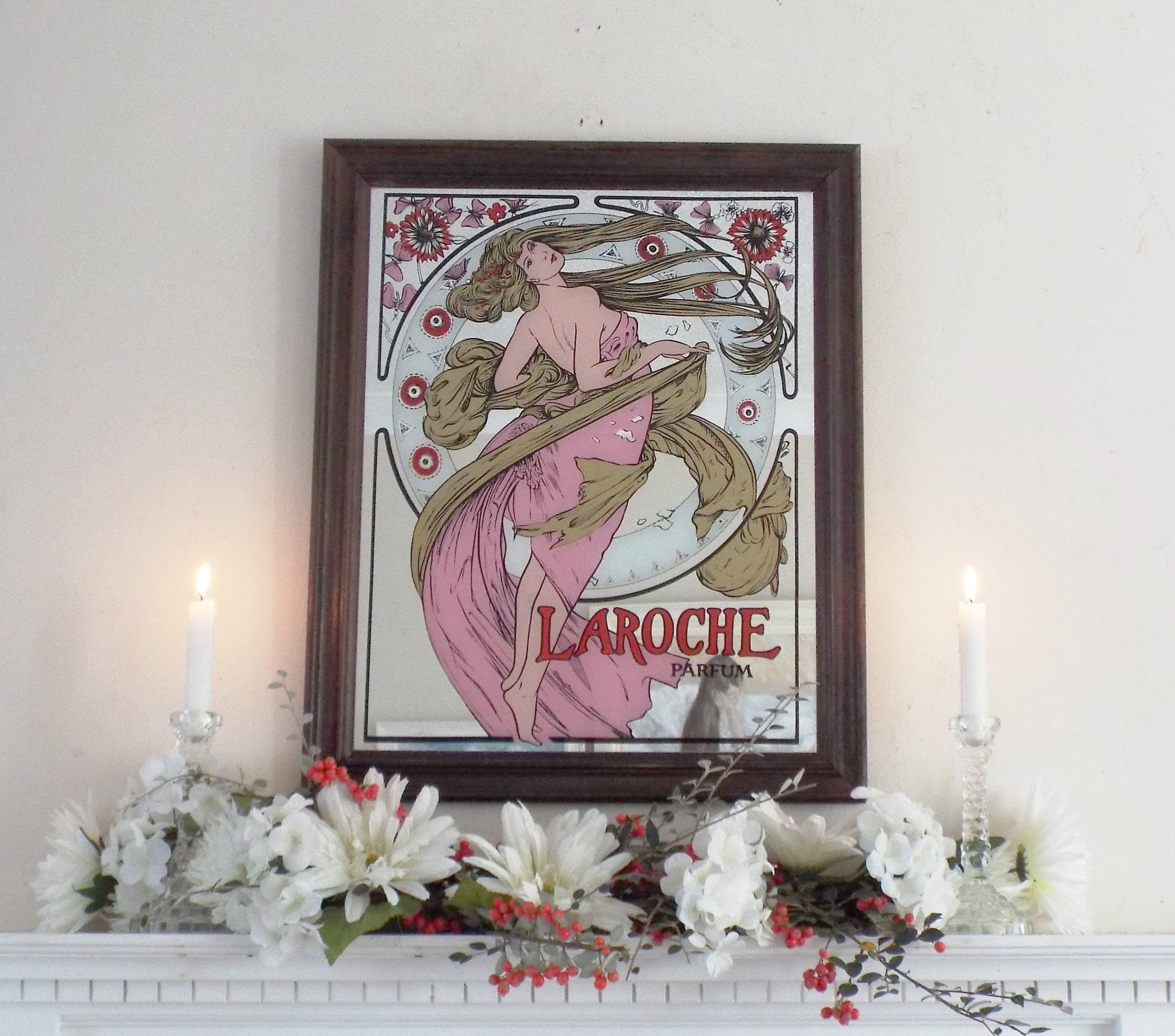 Große Laroche Parfum Spiegel Vintage gemalt Halle Spiegel | Etsy