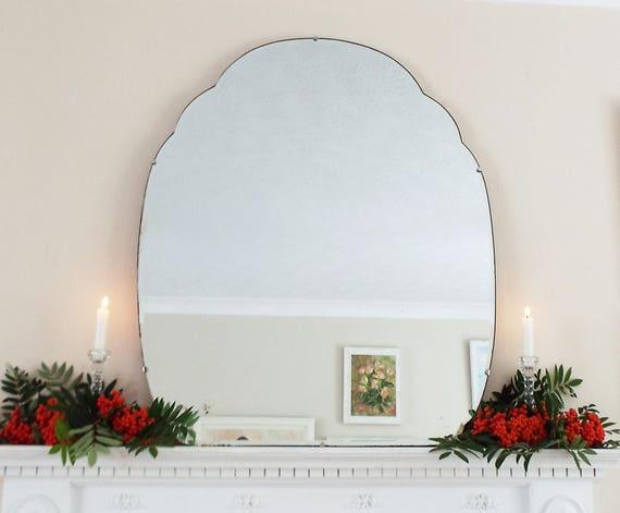 Art Deco Spiegel : Zusätzliche große vintage spiegel art deco spiegel rahmenlose etsy