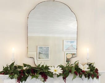 Extra Large Vintage Mirror Art Deco Mirror Frameless mirror Feature Wall Mirror Large antique mirror  M292
