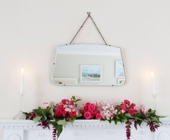 Art Deco Spiegel : Antiker spiegel vintage spiegel art deco spiegel rahmenlose etsy