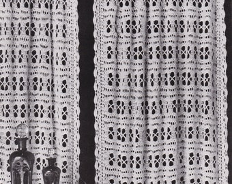 PDF crochet curtain curtains net vintage crochet pattern pdf INSTANT download pattern only pdf