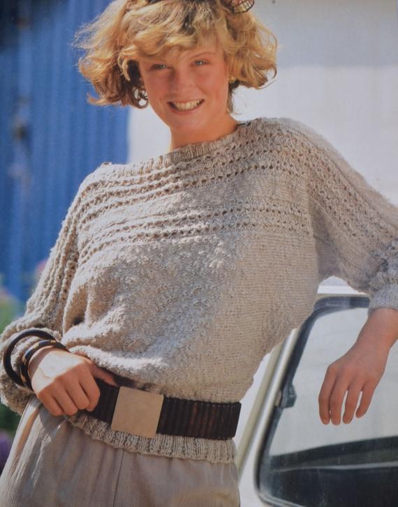 "32/""-38/"" Size Retro Lady/'s 'Odpins' Jumper Knitting Pattern Copy Bust"