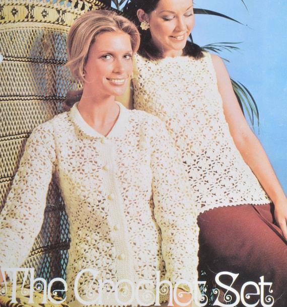 Pdf Womens Crochet Jumper Cardigan Vintage Crochet Pattern Pdf Etsy
