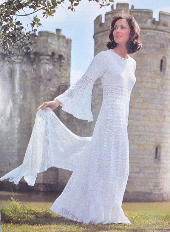Pdf Vintage Crochet Dress Pattern Crocheted Wedding Dress Stole Pdf