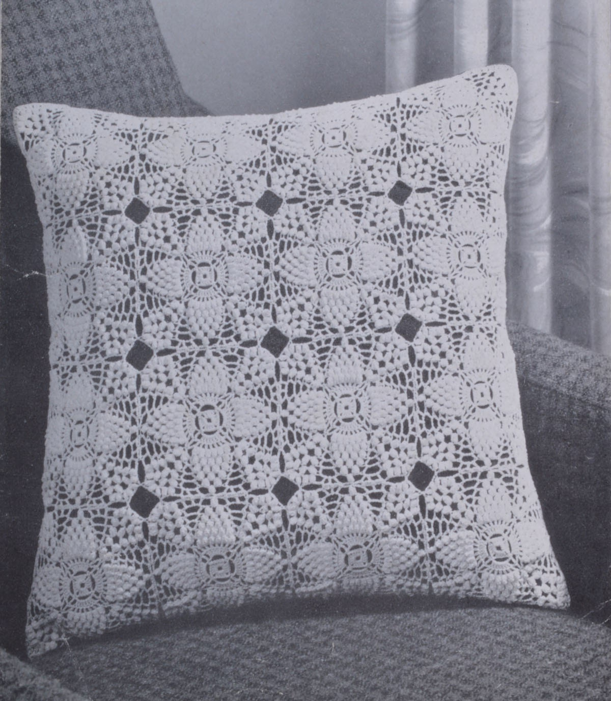 Crochet cushion cover vintage crochet pattern pdf INSTANT download ...
