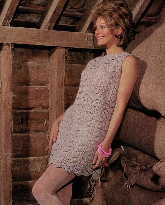 Pdf Womens Crochet Dress Sleeveless Vintage Crochet Pattern Pdf