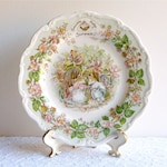 """8"""" Royal Doulton 1982 Brambly Hedge 'Summer' Plate From the Four Seasons Gift Collection Series, England. Jill Barklem Mice Engagement"""