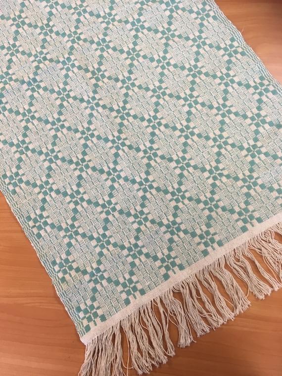 Vintage Swedish Medium Size Linen Cotton blend Table Cloth Decor Home Textile Sverige Free Shipping