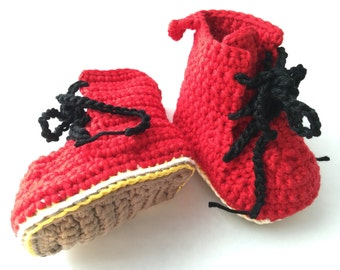 SALE! Soft  Baby Doc Martens-style booties/crib shoes (3-6 months)