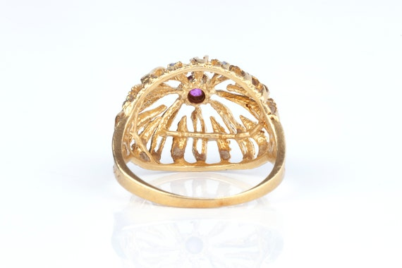 A 1960s Cocktail Ring 18k Gold - image 3