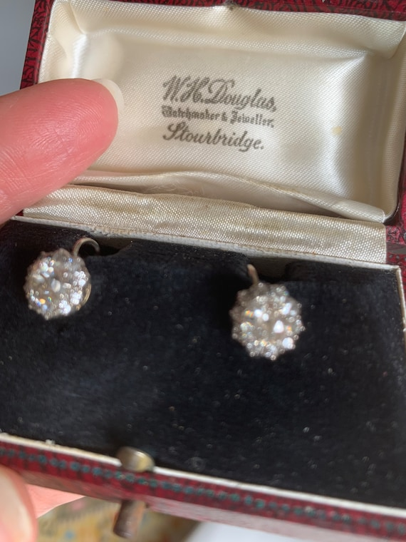 Antique Victorian Cluster Earrings - image 1