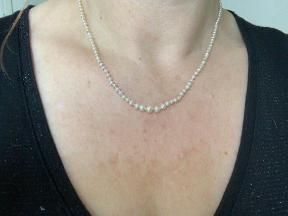 A Natural Pearl and Diamond Set Clasp Edwardian Ne