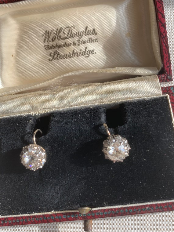 Antique Victorian Cluster Earrings - image 4