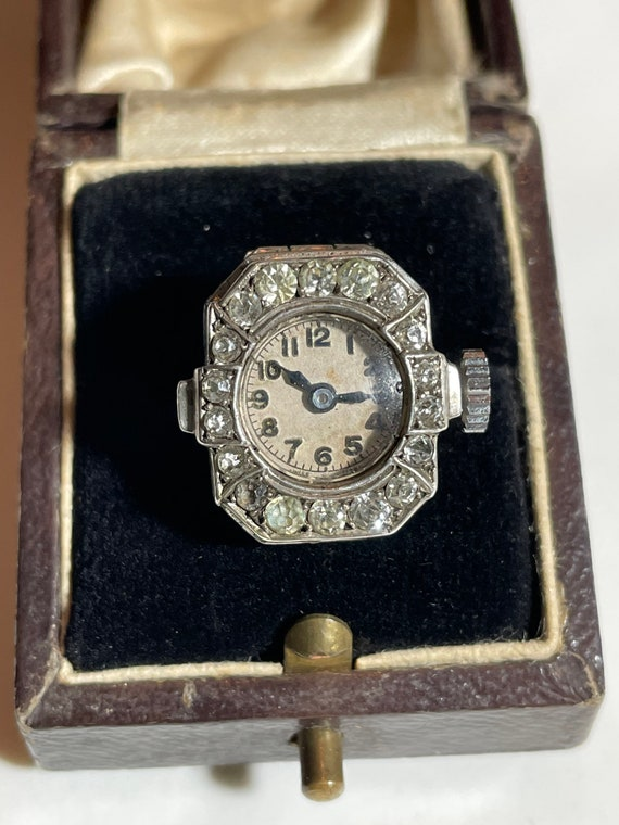 Antique Silver Art Deco Ring Watch