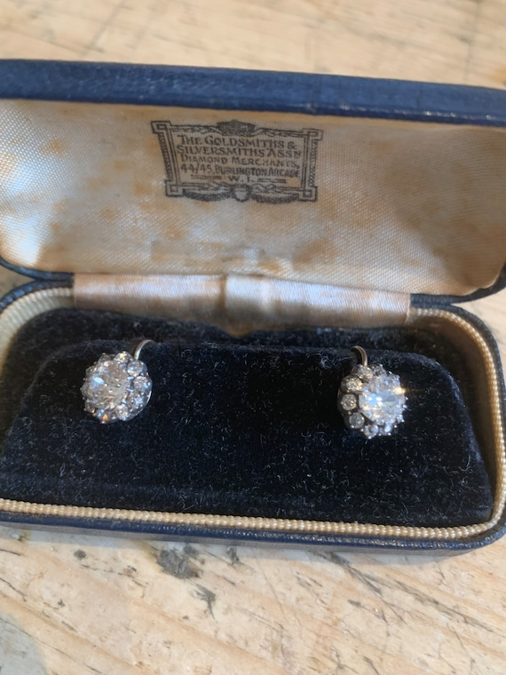 Antique Victorian Cluster Earrings - image 9