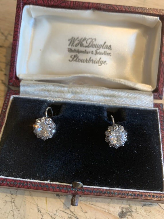 Antique Victorian Cluster Earrings - image 7