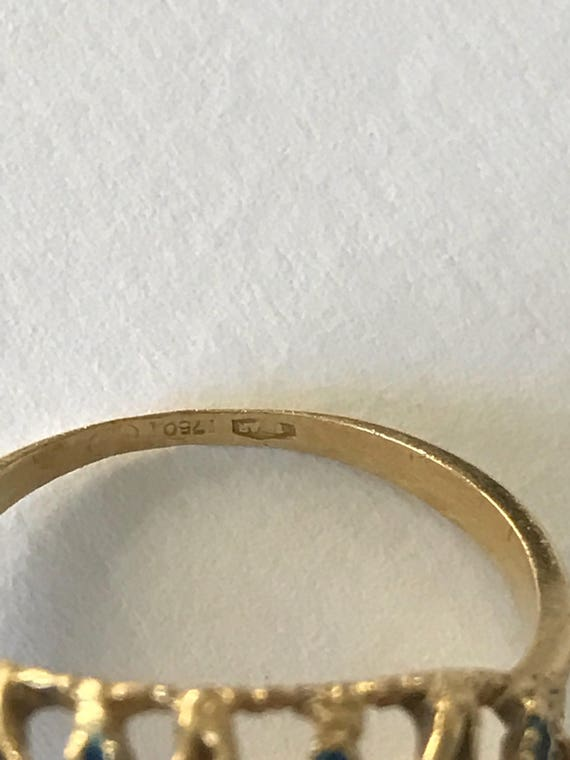 A 1960s Cocktail Ring 18k Gold - image 5