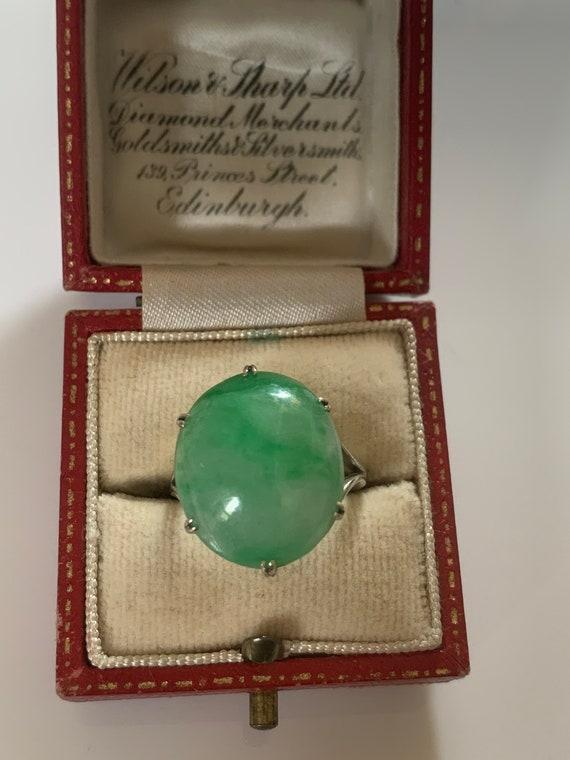 Jade Art Deco Antique Ring