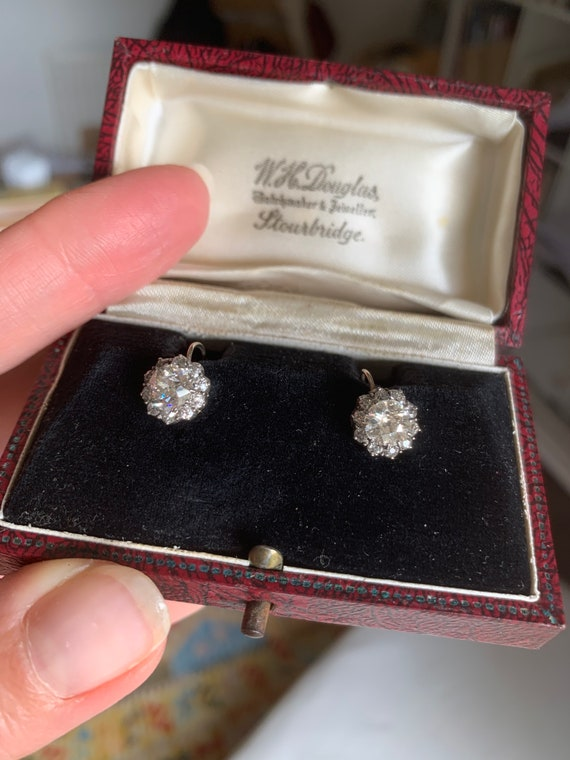 Antique Victorian Cluster Earrings - image 3