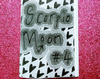 Scorpio Moon #4 - a perzine about magic, Dungeons & Dragons, sobriety, sexuality, mental health, DIY and more