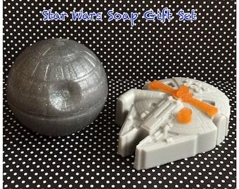 Star Wars Inspired Millennium Falcon & Death Star Soap Gift Set