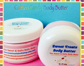 Cotton Candy Sweet Treats Whipped Body Butter-Bubblegum/Strawberry Shortcake/Banana Split and More!