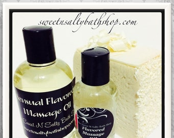 Wedding Cake Flavored Massage Oil