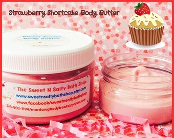 Strawberry Shortcake Sweet Treats Whipped Body Butter-More Yummy Scents to Choose From!!