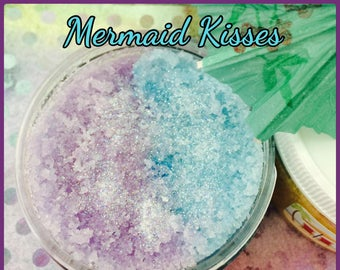 Mermaid Kisses Scented Shimmer Sea Salt Body Scrub/Many More Scents To Choose From!!