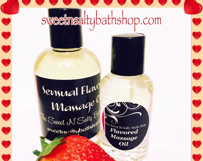 Chocolate Covered Strawberry/Cherry Flavored Massage Oil