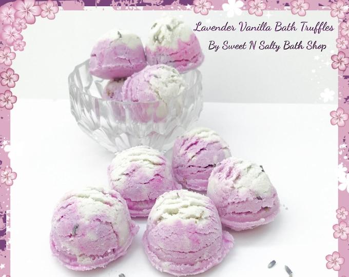 Lavender Vanilla Fizzing Bath Truffles Set of Four