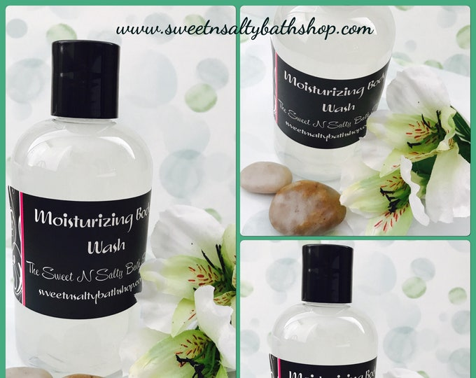 White Tea & Ginger Exfoliating Shower Gel/Body Wash-More Scents to Choose From