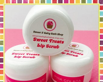 Lemon Pound Cake Sweet Treats Flavored Lip Scrub-Many Flavors to Choose From!