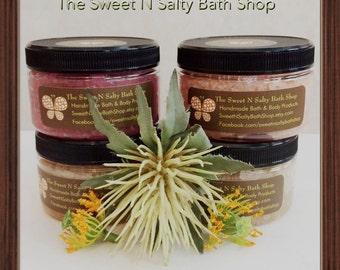 New!! Scents of the Season Sugar Hand & Body Scrub-Warm Vanilla Sugar/Blackberry Vanilla/Vanilla Sandalwood/Amber Silk