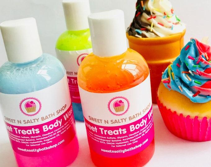 Sweet Treats Bath/Shower Body Wash-Cotton Candy, Bubblegum,Strawberry Shortcake and More!!