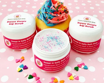 Cotton Candy Sweet Treats Flavored Lip Scrub